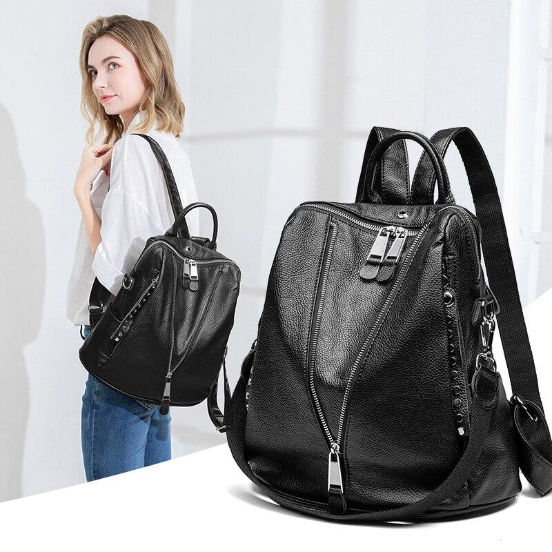 2020 Genuine leather Backpacks High Quality Female Vintage Backpack Travel Shoulder Bag Mochilas Feminina School Bags For Girls