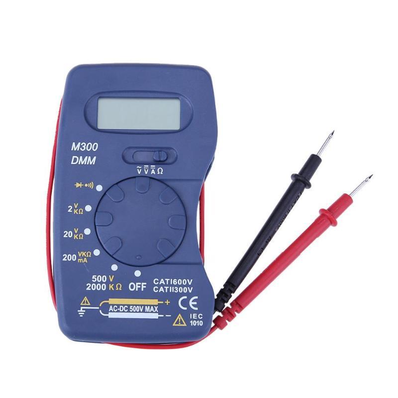 Portable Digital Multimeter M300 Ultra-thin AC DC Ammeter Voltmeter Ohmmeter Current Meter Tester Handheld Mini Multimeter