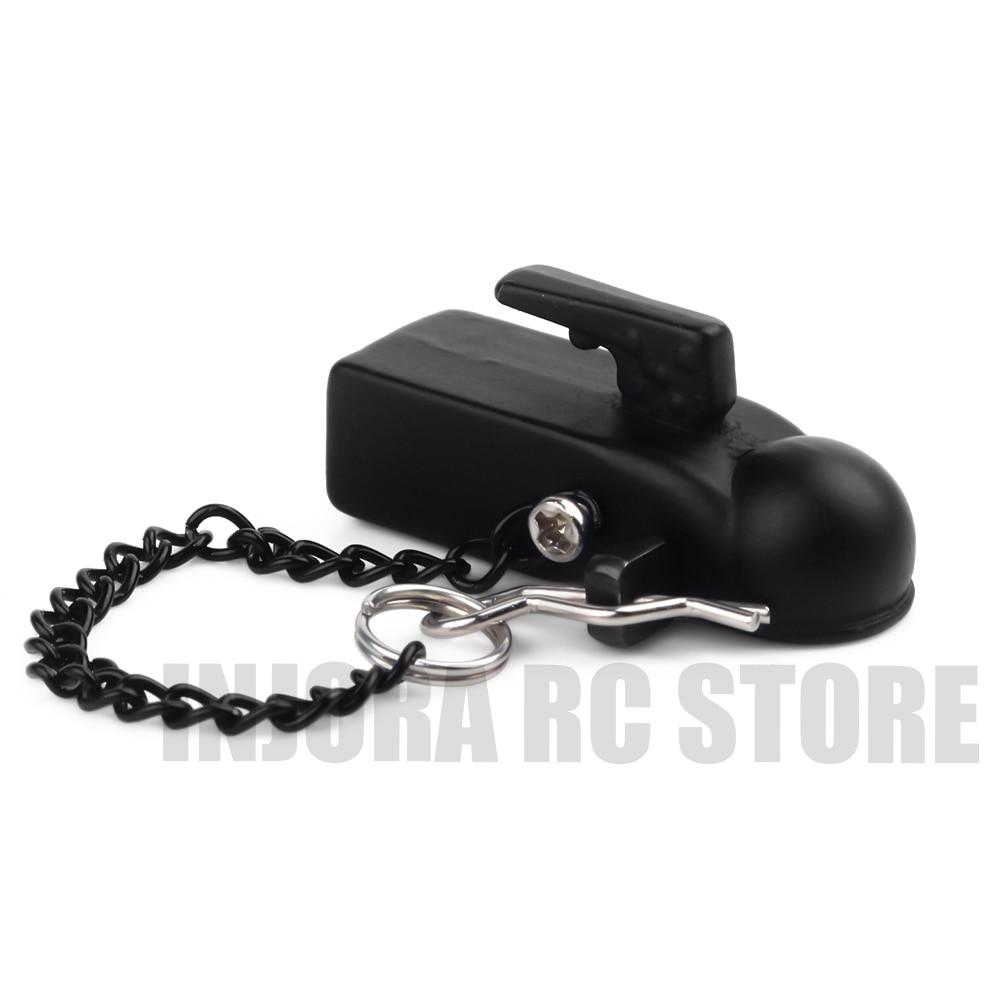 1PCS Metal Trailer Tow Head Hook For 1/10 RC Crawler Car Traxxas TRX-4 Axial SCX10 90046 D90 Upgrade Part