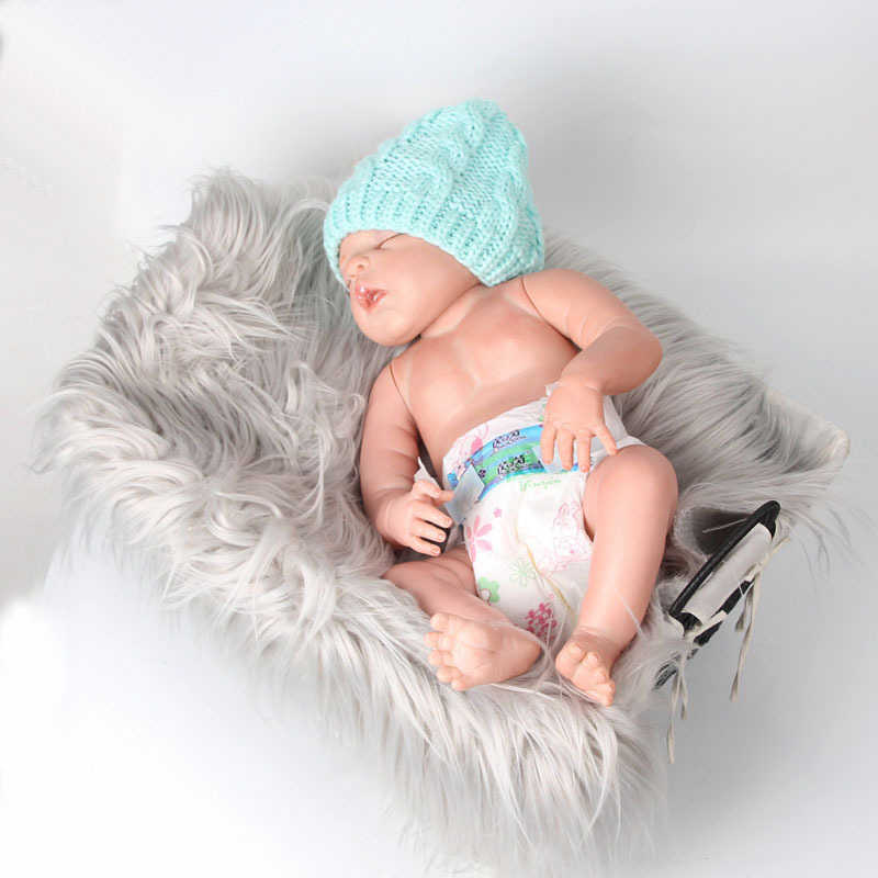Comfortable Soft Blanket Newborn Baby Photo Props Background Photography Soft Hair Blanket 60x50x1cm Body Wrap Blankets for Baby