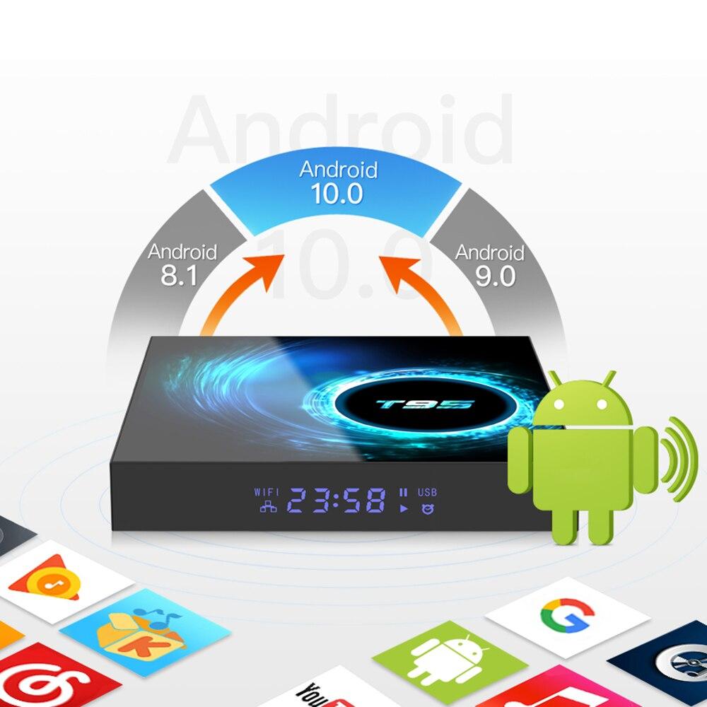 T95 Android 10,0 TV Box Allwinner H616 Quad Core MAX 4GB RAM 64GB ROM 6K Wifi Media player Google Youtube 2G/16G Set Top Box