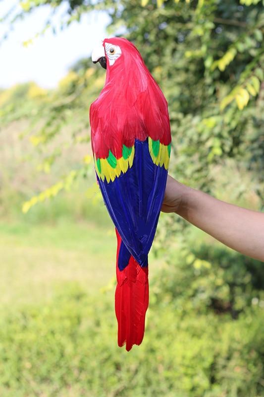 grande 60cm colorido vermelho azul penas papagaio espuma penas papagaio passaro modelo jardim decoracao presente w0886