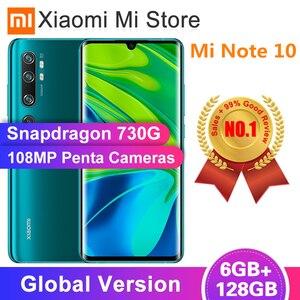 "Global Version Xiaomi Mi Note 10 6GB RAM 128GB ROM Smartphone Snapdragon 730G 108MP Penta Camera 5260mAh Battery 6.47"" Display(China)"