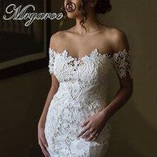 Mryarce 2020 Illusion Neck Off The Shoulder Lace 인어 사랑 웨딩 드레스 Bridal Gowns Boho Chic