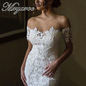 Image 1 - Mryarce 2020 ภาพลวงตาคอปิดไหล่ลูกไม้ Mermaid Love ชุดแต่งงานชุดเจ้าสาว Boho CHIC