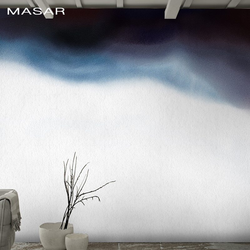 MASAR Ink Smudge Painting Design Chinese Cloud Abstract Art Mural Restaurant Bedroom Background Wall Paper Penetration