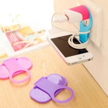Hot Mobile Phone Wall Charger Adapter Charging Holder Hanging Stand Bracket Support Charge Hanger Rack Shelf Cell Hook