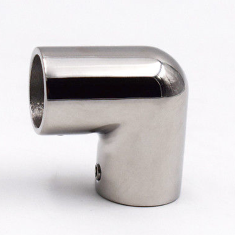 """ISURE MARINE Stainless Steel Boat Hand Rail Fitting 90 Degree 1/"""" Elbow"""