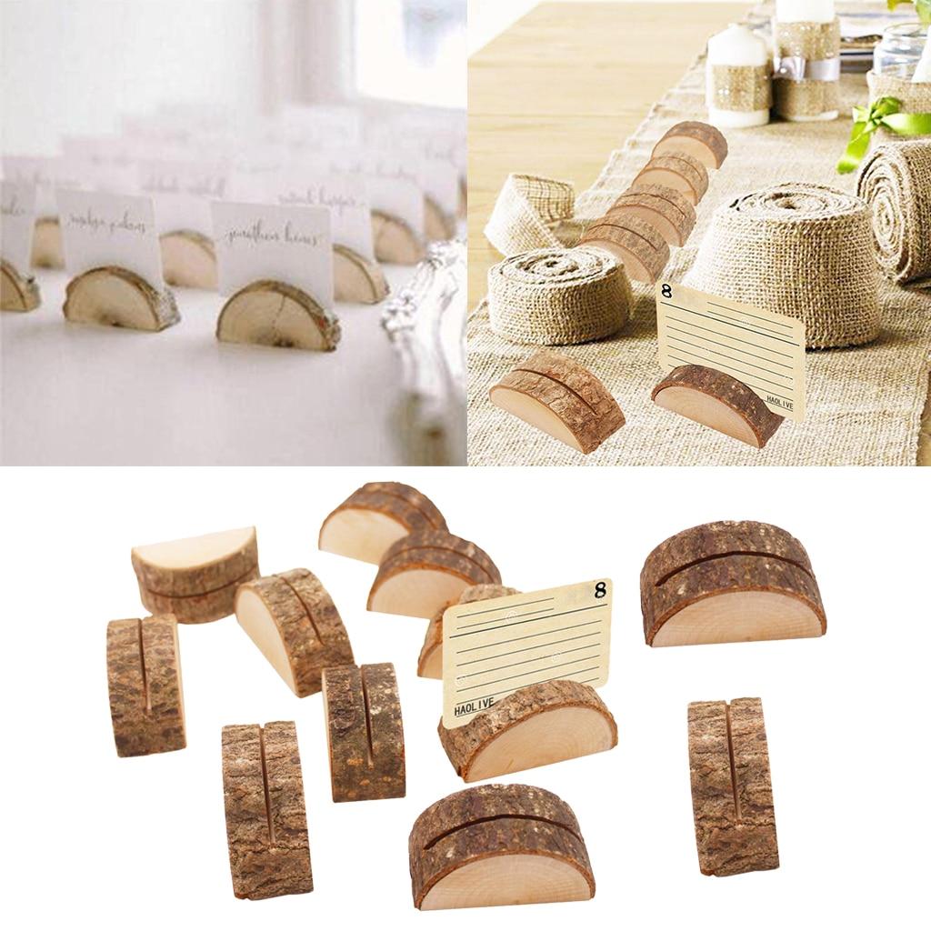120 pièces porte cartes en bois porte numéro de Table pour les décorations - 2