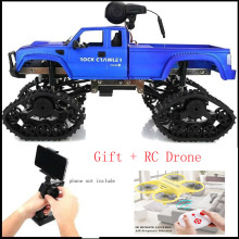 4WD Electric RC Crawler Truck 2.4GHz 1/16 Scale 480P HD Camera High Speed Monster Road Buggy 20-25Mins