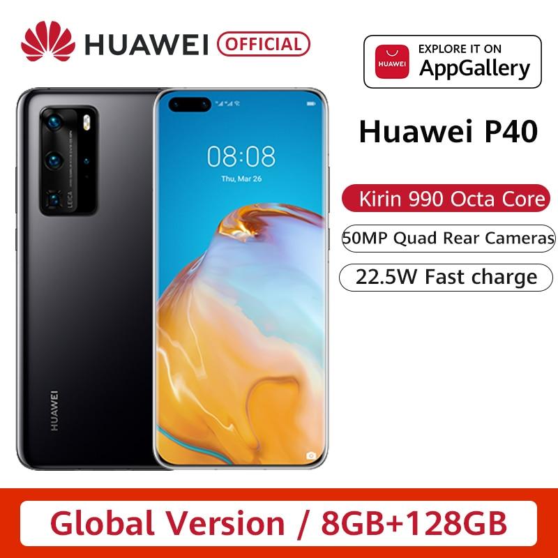 Google Play глобальная версия Huawei P40 5G смартфон Kirin 990 8GB 128GB 50MP камеры 6,1 дюйма Android 10 22,5 W SuperCharge NFC