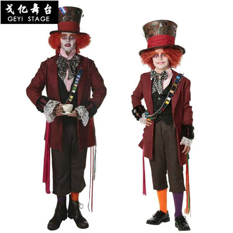 Deluxe Child Whimsy Mad Hatter Halloween Costume From Movie Through The Looking Glass Kids Alice In Wonderland Party Fancy Dress Aliexpress