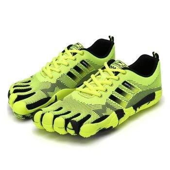Men five fingers shoes male 5 Toe shoes outdoor seasons breathable non-slip hiking walking trekking sneakers Mens casual sneaker