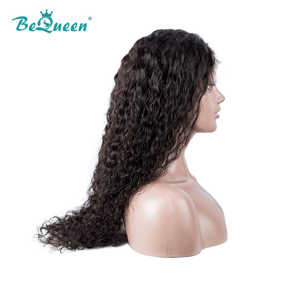Image 3 - BeQueen Human Hair Wigs Peruvian Water Wave Wig Pre plucked Hairline Human Hair Wig For Black Women-in Human Hair Lace Wigs from Hair Extensions & Wigs