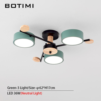 BOTIMI Indoor LED Chandelier For Master Bedroom Modern Wooden Study Room Lustres Ceiling Mounted Living Room Chandeliers 9