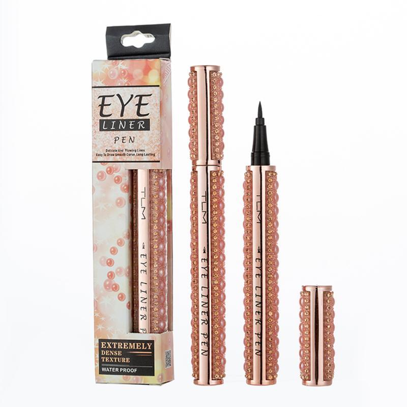 1Pc Quick-dry Black Eyeliner Pen Waterproof Not Blooming Liquid Eyeliner Lasting Smooth Eye Liner Pencil Makeup Gift TSLM1