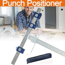 Punch Locator Set Aluminum Alloy Sleeve Woodworking Tool Jig Hardware Drawer Pocket Hole Drill Guide Cabinet(China)