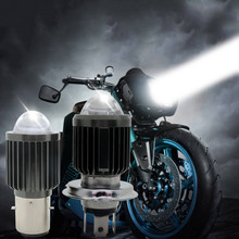 30W BA20D H4 White & Yellow Color LED Motorcycle Headlight H6 Scooter Motorbike Headlamp Light Bulb Accessories 12-80V ba20d h6 100w led motorcycle bike moped scooter atv headlight bulb white 6000k motorbike drl daytime light