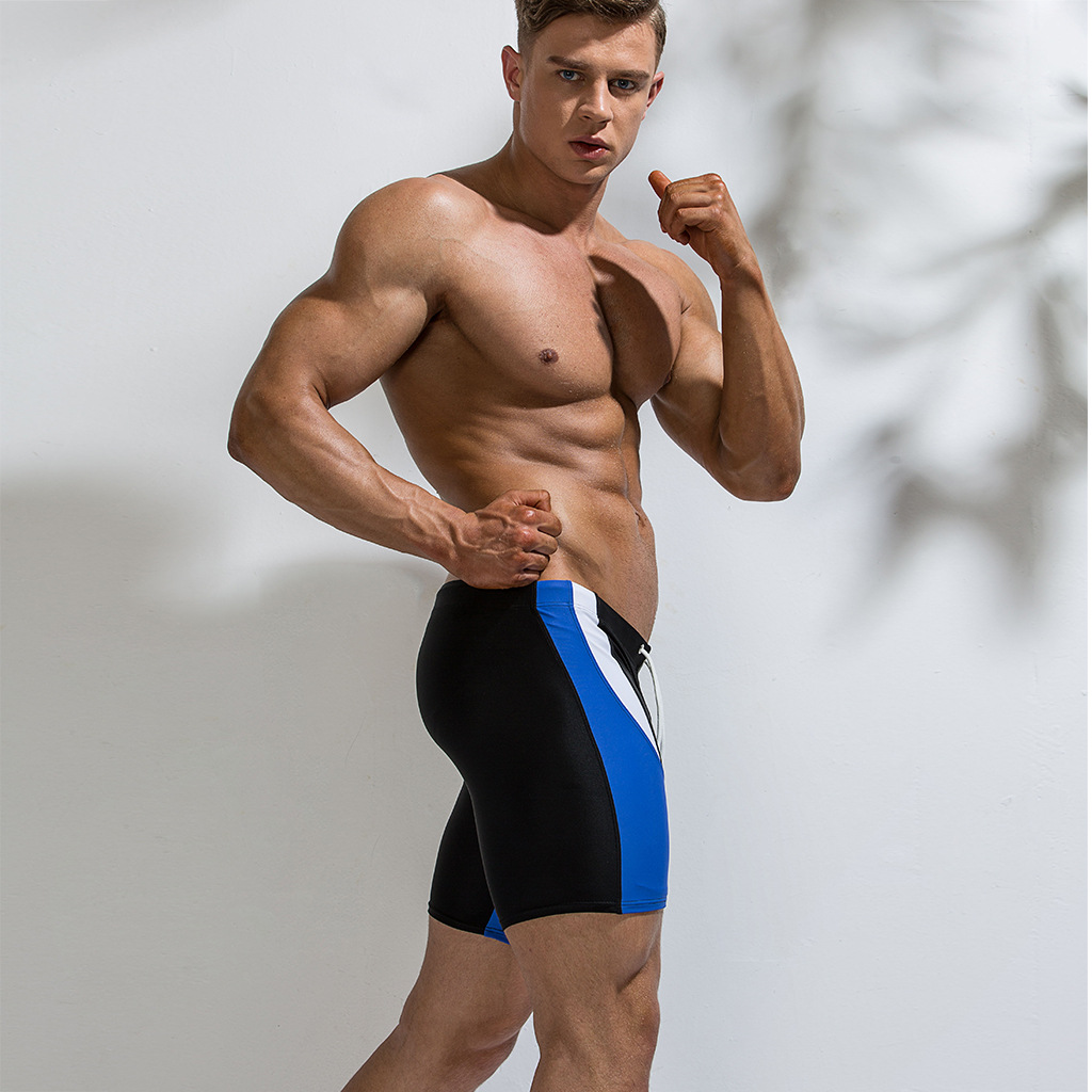 2019 Summer Day New Products-Style Mixed Colors Short Swimming Trunks Men Youth Nylon Waterproof Hot Springs Swimming Trunks