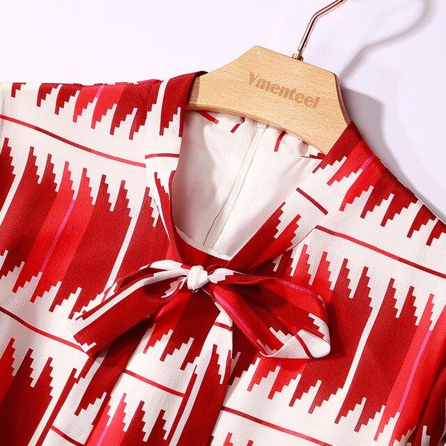 Robe en mousseline de soie   Imprimée à la mode, manches longues, robe élégante, robes de soirée, collection printemps été 2020