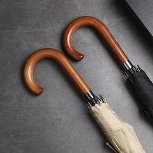 Мужской зонт с длинной ручкой в японском стиле ветрозащитные