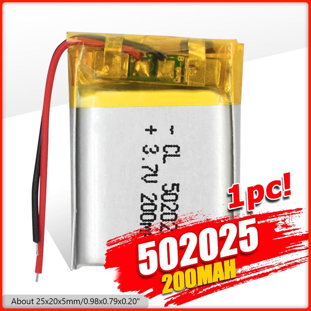 3,7 В 200 мАч 502025 литий-полимерный литий-ионный аккумулятор, литий-полимерные элементы для MP3 MP4 Динамик для игрушек, тахограф, POS