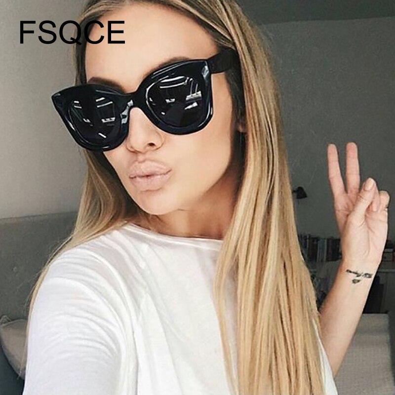 New Fashion Cat Eye Sunglasses Women Brand Designer Vintage Gradient Cat Eye Sun Glasses Shades For Women UV400