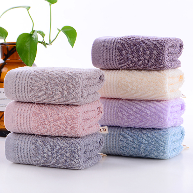 100% Cotton 3Piece Bathroom Towels Hand Towels Washcloths Luxury Soft Absorbent and Eco-Friendly Purple Blue Pink Gray Camel