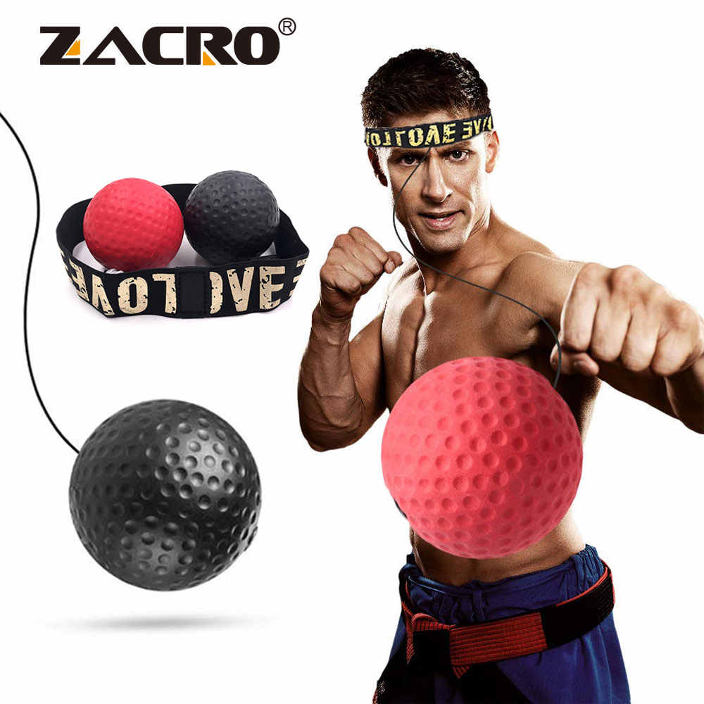 Boxen Reflex Geschwindigkeit Punch Ball Sanda Boxer Anhebung Reaktion Kraft Hand Auge Training Set Stress Gym Boxing Muay Thai Übung