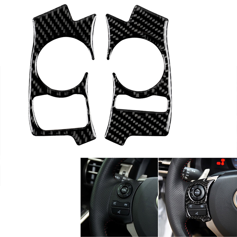 For <font><b>Lexus</b></font> IS250 <font><b>NX200</b></font> 200t 300h 2014-2018 Car Carbon Fiber Sticker Interior Steering Wheel Cover Trim Car Styling Decals Sticker image