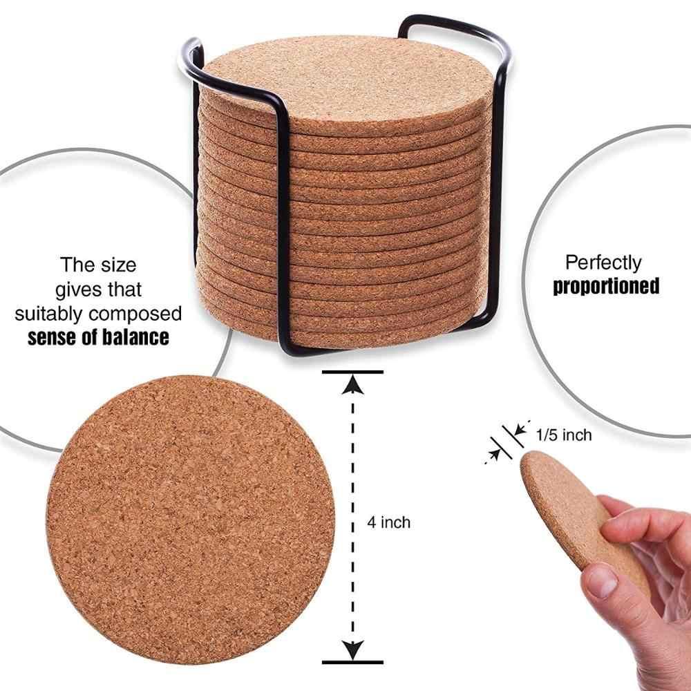 6/10/20 Buah Kayu Slice Mat Mat Natural Round Coaster Tatakan Tahan Panas Cangkir Teh dan Kopi minum Pad untuk Dekorasi Dapur