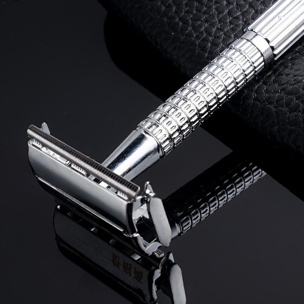 Safety Double Edge Razor For Men Barber Shaving Hair Razor Mens Shaving Shaving Machine Blades Face Razor Straight Removal O6F0
