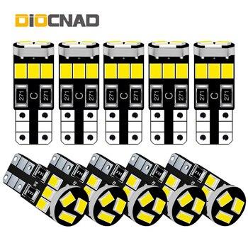 Bombilla LED para coche W5W T10, 10x, para chevrolet cruze, captiva, aveo, lacetti, niva, camaro, skoda, octavia, a7, a5, fabia rapid, superb