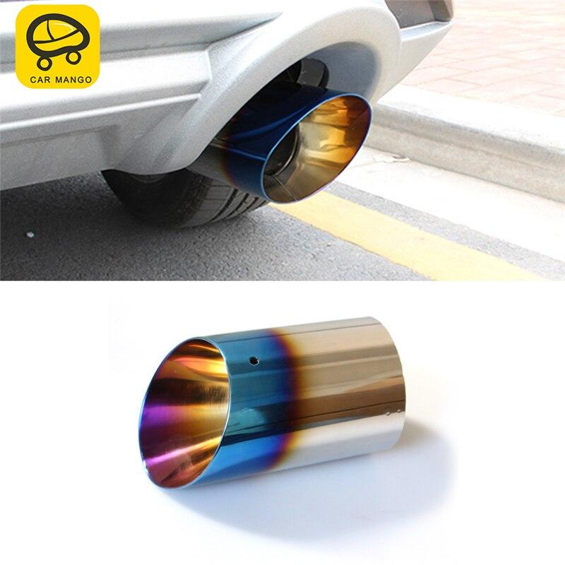 Voiture MANGO voiture style queue tuyaux d'échappement tuyau silencieux cadre couverture autocollant accessoires extérieurs pour Ford KUGA Escape 2017 2018