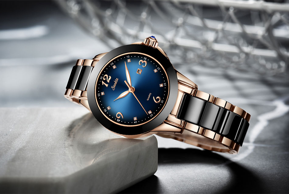 Sunkta moda feminina relógios senhoras marca superior