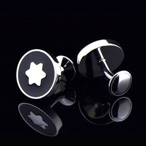 Shirt Cufflinks Jewelry High-Quality Brand Gifts Star Wedding-Abotoaduras Round EASY.H