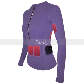 Wireless Device-controlled Ems Specializes In Reducing Tummy Purple Ladies Gym Suit