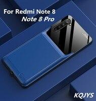 Kqjys 10000mah powerbank de reposição capa de carregamento para redmi nota 8 pro tpu portátil à prova de choque caso carregador de bateria para redmi nota 8