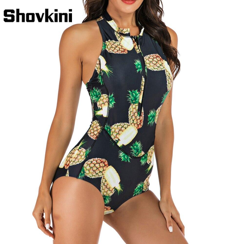 Kids Baby Girls Halter Pineapple Print Halter One Piece Swimsuits Girls Beach Swimwear Monokini