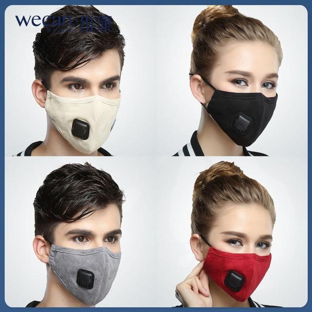 PM2.5 Mask Mouth Face Mask Respirator Dust Mask 5 Layers Washable Cotton korean black Masks 4
