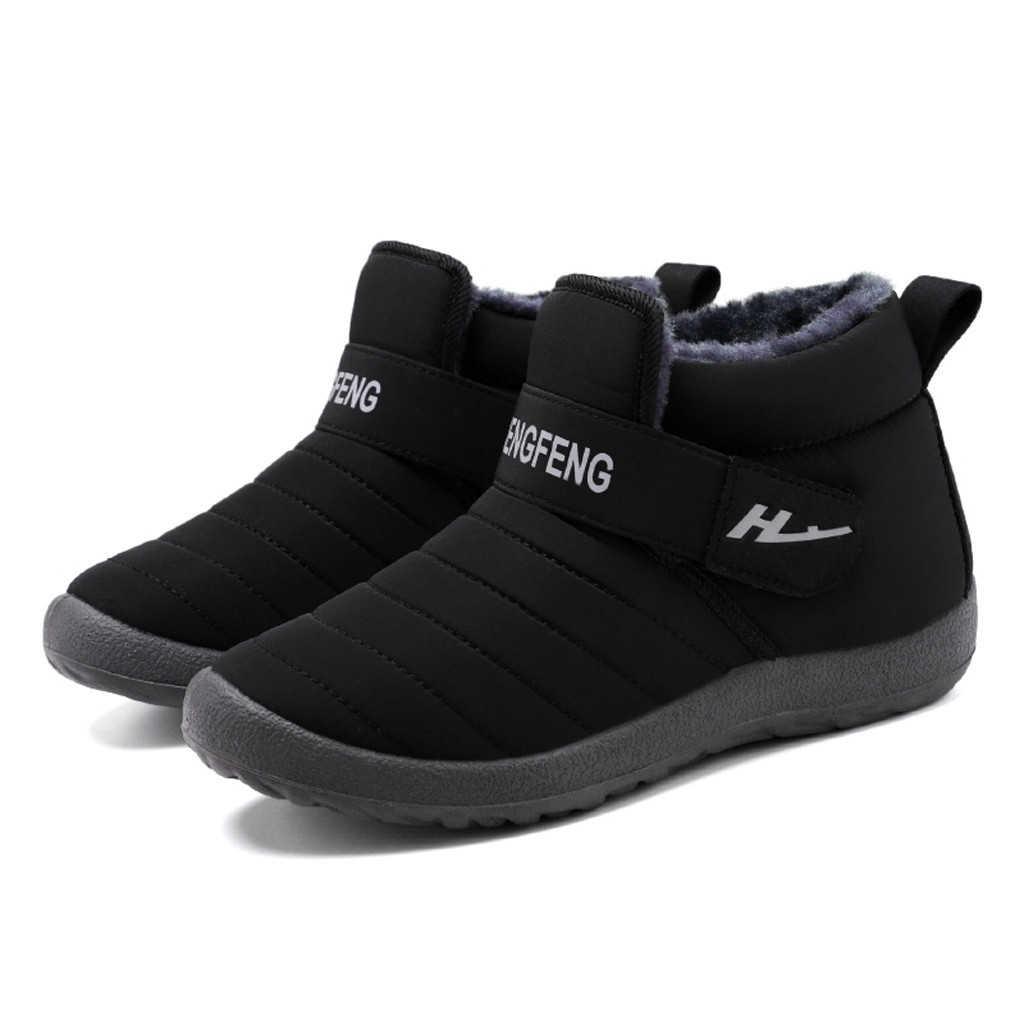 SAGACE Männer Stiefel Leichte Winter Schuhe Für Männer Schnee Stiefel Wasserdichte Schuhe Slip Auf Knöchel Kurze Bootie 1031