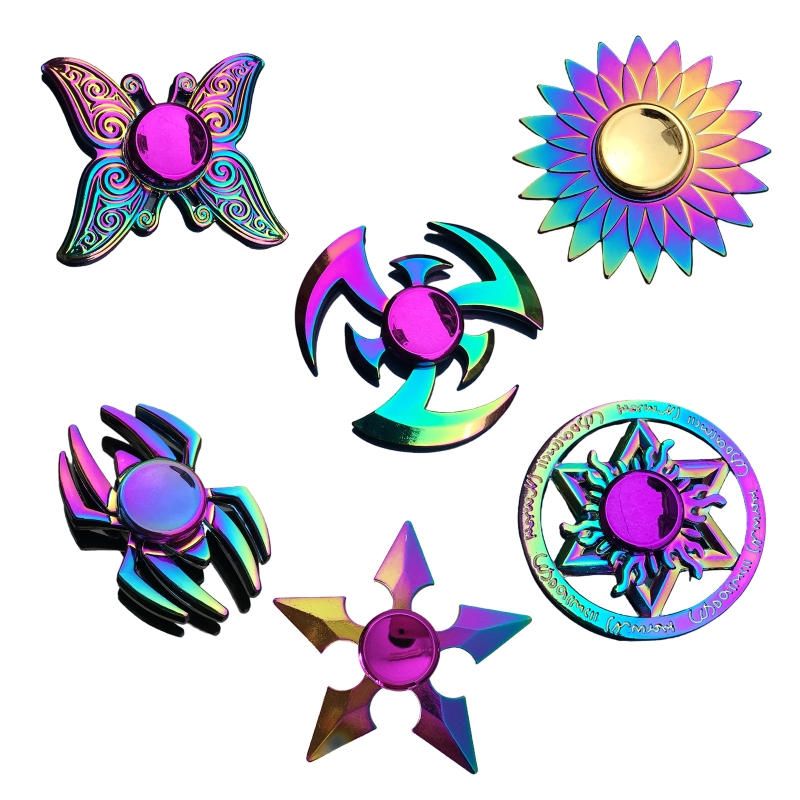 Toy Fidget-Spinner Lotus-Stress Metal Relief Colorful New Gift Dart Butterfly Kids