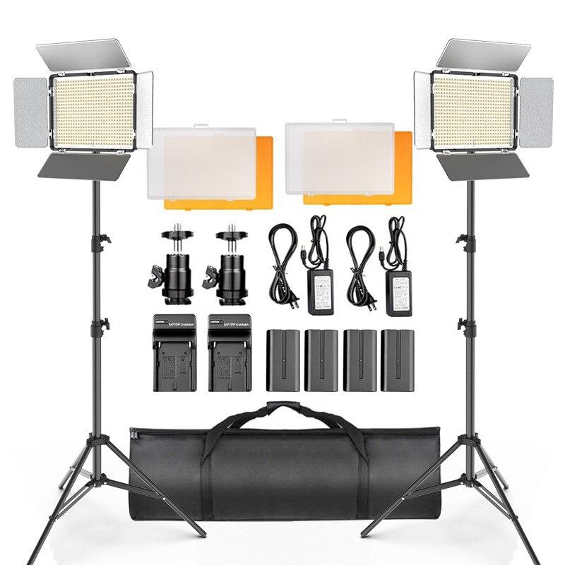 Осветитель светодиодный для видеосъемки, 600 светодисветодиодный, со штативом и сумкой для переноски