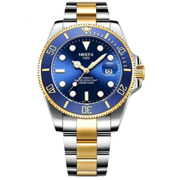 NIBOSI Mechanical Watch Men 10Bar Automatic Luxury Men Watch Sport Wristwatch Two-Tone Reloj Hombre Tourbillon Relogio Masculino 7