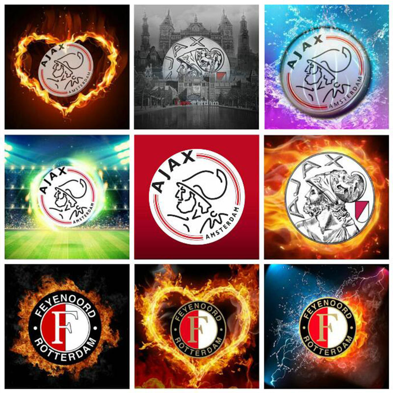 5d Diy Diamond Painting Full Square/Round Drill AJAX kids Badge Football Icon 3d Diamond Embroidery Mosaic Kids Home Decor Gift image