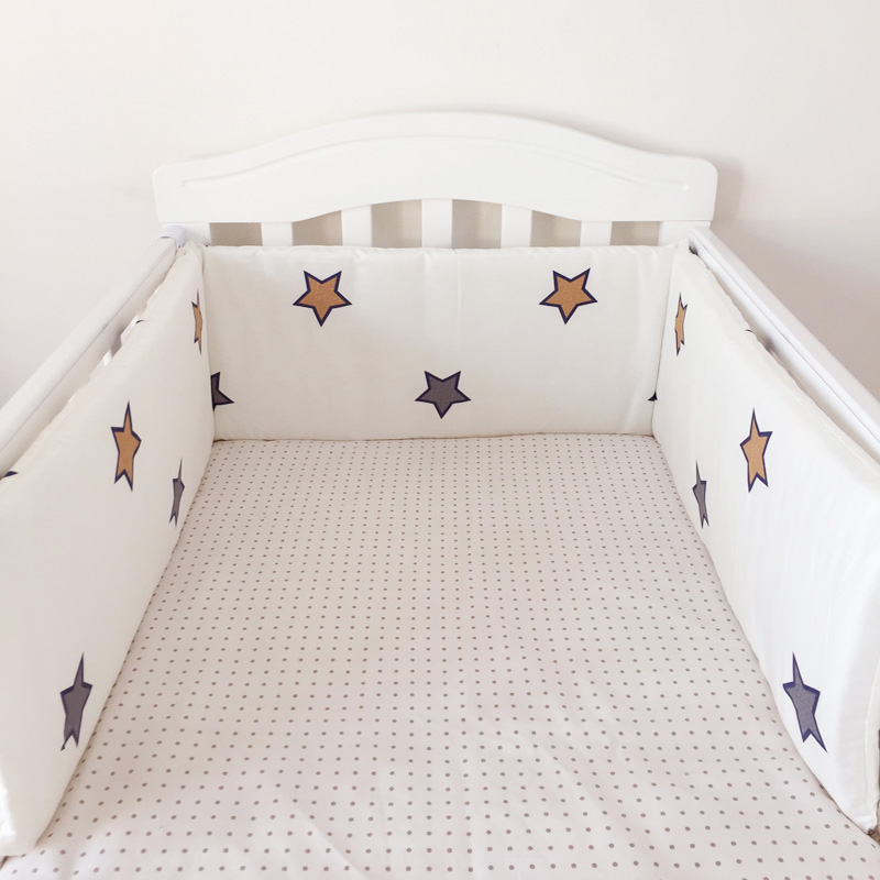 1pc Baby Bed Bumper Newborn Bedding Set Cotton Crown Infant Crib Bed Fence Around Cushion Cot Protector Pillows Baby Room Decor