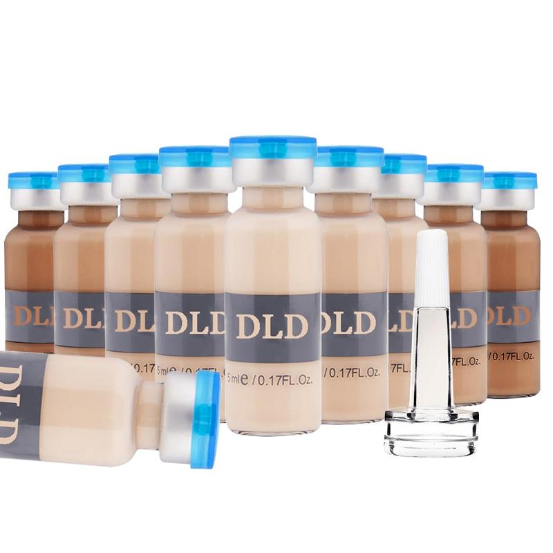 10pcs/set 5 Shades Bb Cream Glow DLD Anti-aging Serum Meso White Brightening Serum Natural Nude Concealer Make Up CC Foundation