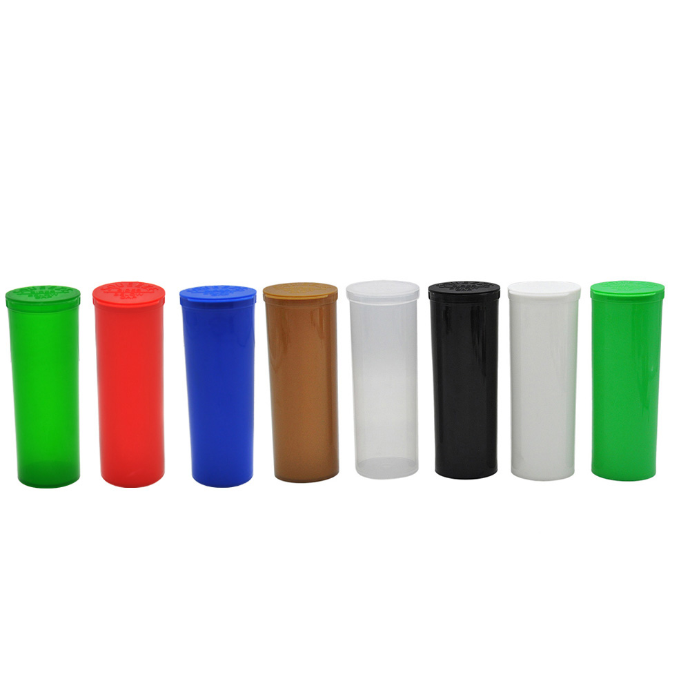 60 Dram Plastic Storage Box Squeeze Pop Top Bottles Vial Medical Herb Pill Box Container Airtight Herb/Spice Storage Case
