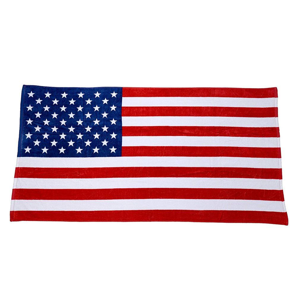 American Flag Beach Towel 150x80CM Absorbent Cotton Beach Towel Drying Washcloth Beach Towel shower Towels ED