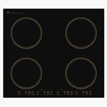 2 3/4 головки Bulit в плита индукции инфракрасный Плита Встроенный электромагнитный Пособия по кулинарии горелка Высокая Мощность горячий горшок плита